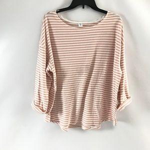 Old Navy Women's Light Sweatshirt Cotton Striped